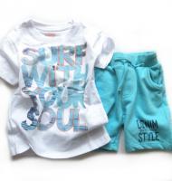 Chlapecké triko a tyrkysové kraťasy značky LOSAN