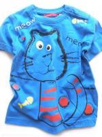 Modré triko s kočičkou