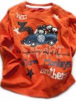 Oranžové triko opičky