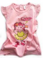 Růžové triko s panenkou