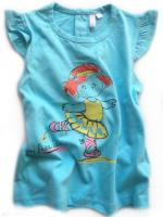 Tyrkysové triko s panenkou