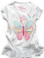 Dívčí bílé triko motýlek značky LOSAN