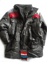 Chlapecká antracitová zimní bunda značky LOSAN
