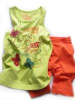 Dívčí komplet lime triko a leginy značky LOSAN
