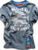 Chlapecké modré triko s rybou značky TEIDEM