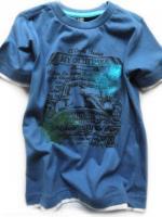Chlapecké modré triko s potiskem značky TEIDEM
