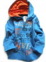 Chlapecká modro-oranžová mikina značky LOSAN