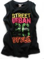 Chlapecké černé tílko Urban značky LOSAN