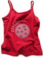 Dívčí červené tílko s beruškou značky LOSAN