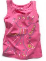 Dívčí růžové tílko mašlička značky LOSAN