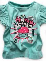 Dívčí zelenkavé triko Happy days značky TEIDEM
