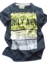 Chlapecké černé triko potisk značky LOSAN