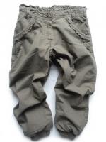 Dívčí khaki podšité kalhoty značky TEIDEM