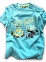 Chlapecké tyrkysové triko ponorka značky LOSAN