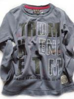Chlapecké modrošedé triko nápis značky TEIDEM