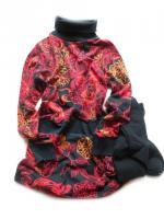 Dívčí barevné šaty a punčochy značky LOSAN