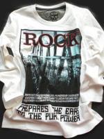Chlapecké bílé triko ROCK značky LOSAN