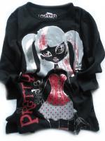 Dívčí černé triko Monster hight značky LOSAN