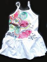 Dívčí bílé šaty kytka značky LOSAN