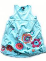 Dívčí tyrkysové šaty s kytičkami značky LOSAN
