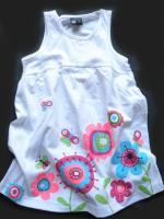 Dívčí bílé šaty s kytičkami značky LOSAN