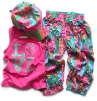 Dívčí komplet tílko,kalhoty,kšilt značky LOSAN