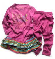 Dívčí šaty a legíny - FUCHSIA značky LOSAN