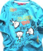Tyrkysové triko opičky